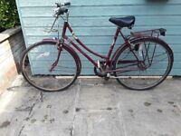 1970s 1980s Womens Vintage Cameo Raleigh Bicycle Bike