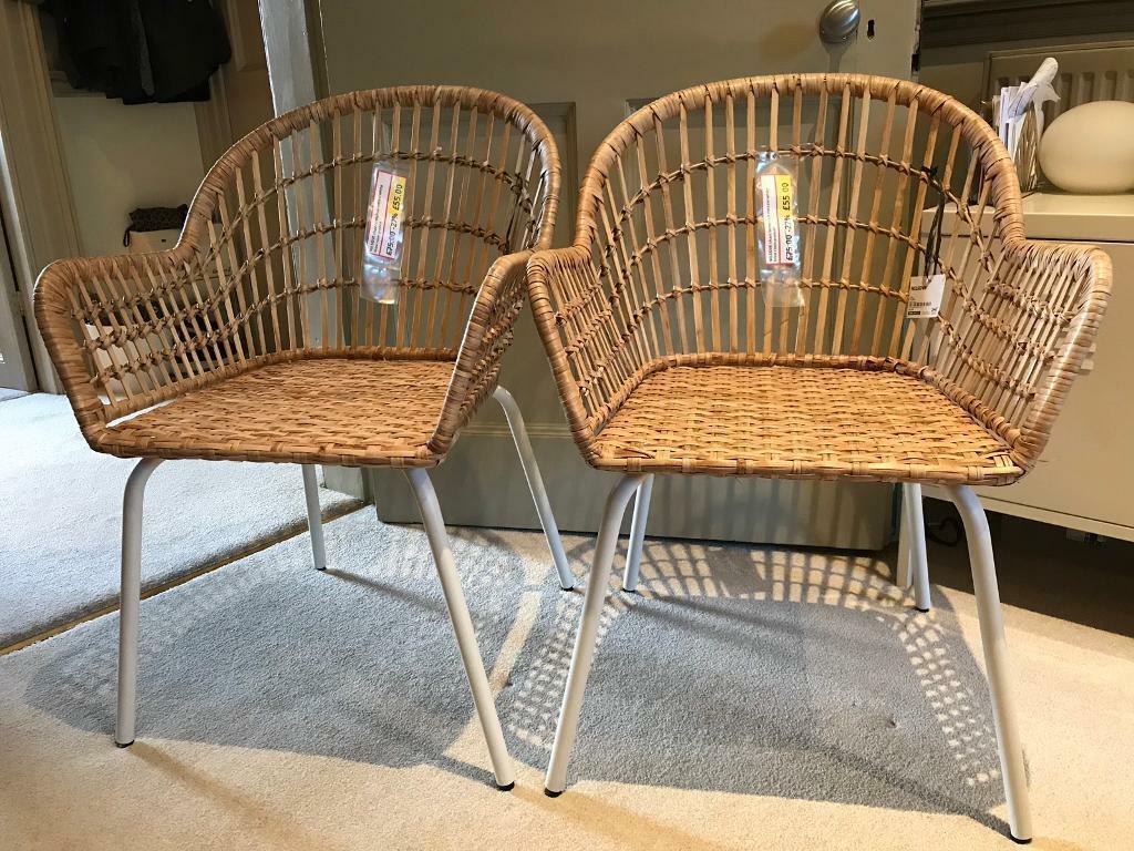 Brand New Ikea Wicker Chairs In Radstock Somerset Gumtree