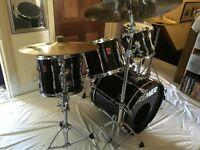 Premier APK drum kit for sale - black and silver