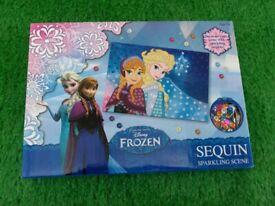 Brand New Disney Frozen Sequin Sparkling Scene