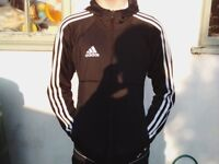 Adidas Tango full zip hooded jacket XS