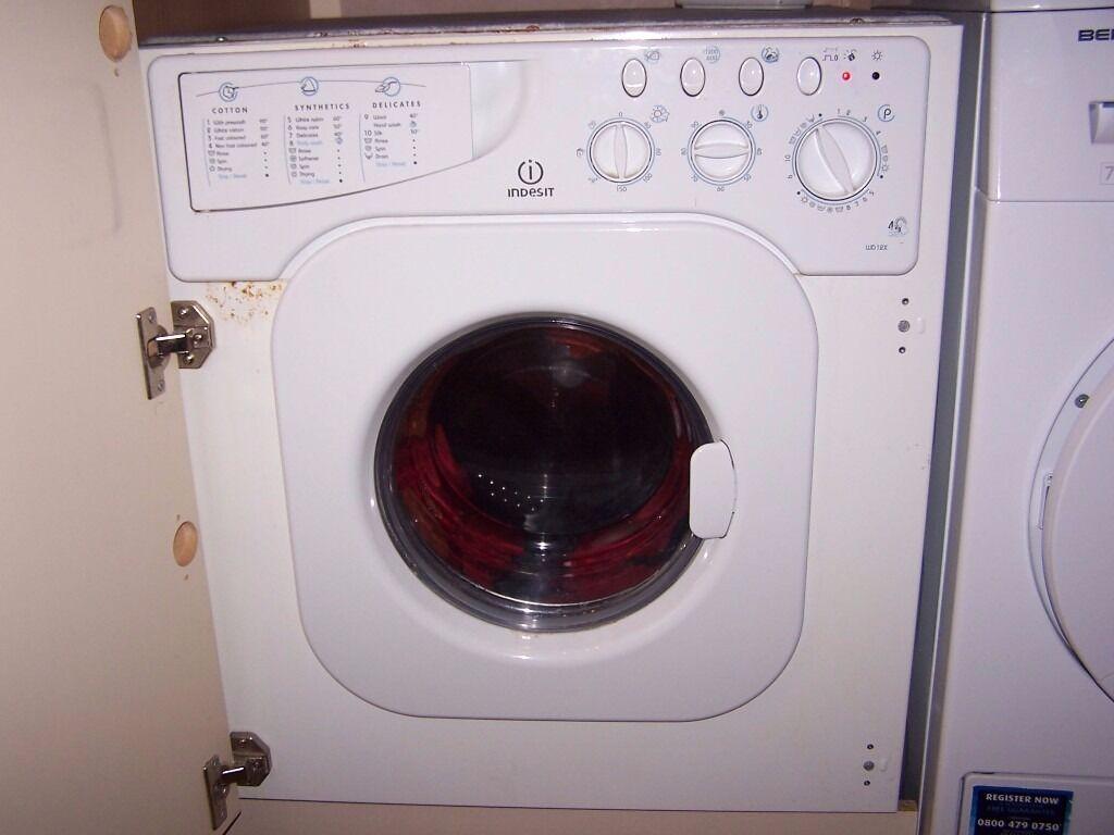 Indesit Integrated Washer Dryer Wd12x In Llangennech