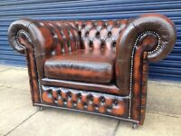 Chesterfield club chair brown delivery posible