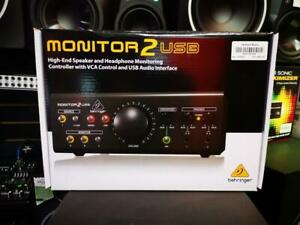 Behringer Monitor2Usb Speaker Amp Headphone Monitoring Controller With Vca Amp Usb