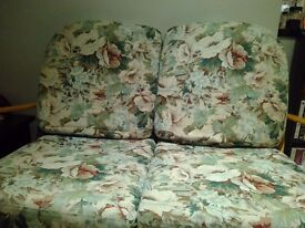 Vintage floral Ercol cushion covers