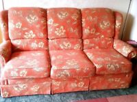 Settee and 2 arm chairs for sale