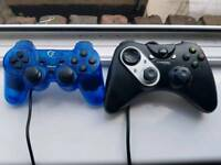 1 Cyborg rumble and 1 Analog game controller for sale