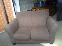 2-seater cream sofa. Compact. Good condition