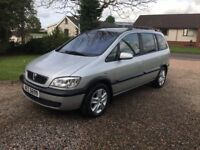 2004 VAUXHALL ZAFIRA 1.6 ENERGY - 7 SEATER - MOTD OCT 2018 -