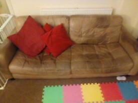 Large leather sofa - free to collect