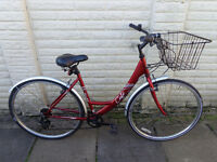 ladies apollo hybrid bike front basket, new lights, d-lock ready to ride free delivery