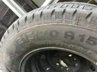 motorhome wheel and tyre spare
