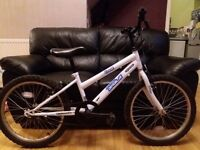 "British eagle boys bike in white 20"" wheels in good condition"