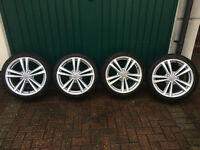 "Genuine 18"" Audi Alloy Wheels"