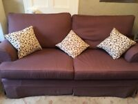 Three Seater Sofa and Arm Chair