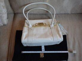 Biba Leather White Handbag