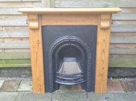 Cast iron fire place and surround
