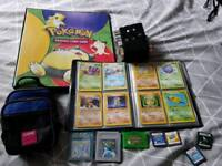 Retro POKEMON game and TCG card collection