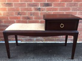 Stag 'minstrel' telephone table unit with seat / chair - upcycle / project