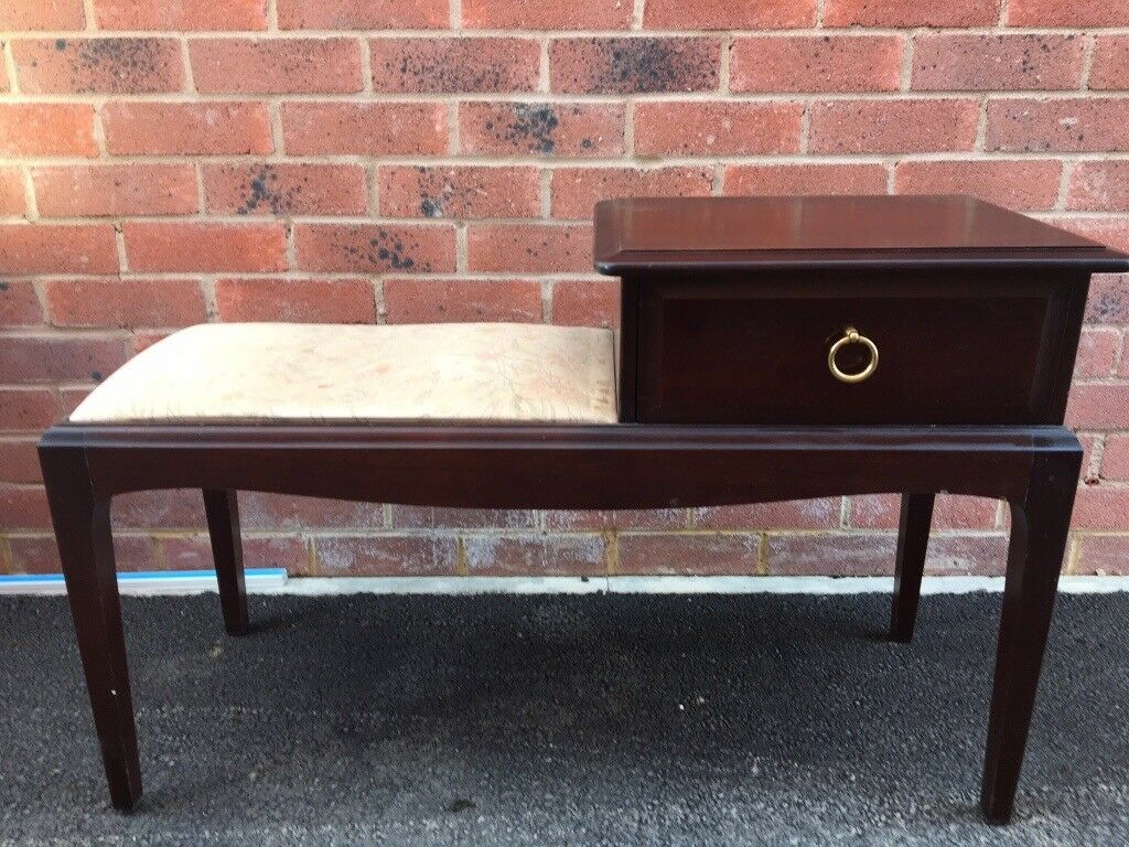 Stag Minstrel Telephone Table Unit With Seat Chair Upcycle Project