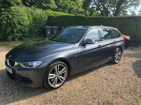 2014 BMW 335D Touring in Mineral Grey, Sports Automatic, Beige/Cream leather interior