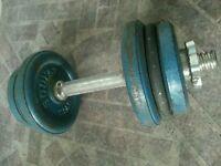 10kg Dumbell bar set 2×2.5kg 2×1.5kg 2×1kg pick up from Blackburn or Leyland