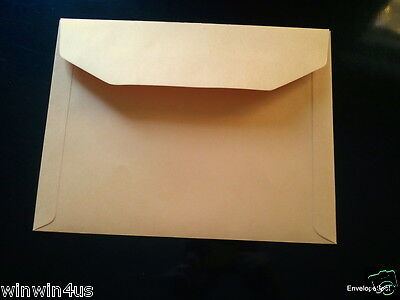 9 X 12 Wallet Flap Document Envelopes Brown Kraft Qty 250 Heavy Duty 40lb