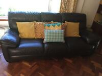 2 Leather Sofas, 3 seater and 2 seater