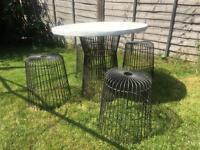 Metal habitat garden furniture