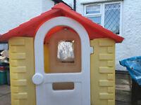 A large plastic playhouse