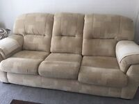 DFS 3 piece sofa and arm chair, great condition