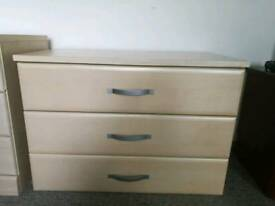 Matching bed side table and drawers