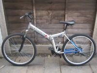 ADULTS CHALLENCE FOLDING MOUNTAIN BIKE IN HARDLY USED COND!!