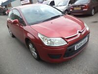 2005 Citroen C4 1.4 Petrol 3 Door Coupe in Red Colour. Mileage is 82K with 3 Months MOT