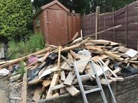 Large pile of wood for collection
