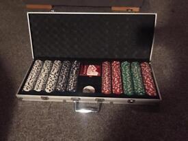 Poker set used once
