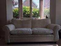 2 Seater white Laura Ashley Fabric Sofa collection from Newbury