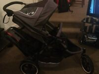 Phil and Ted's E3 Twin/Double Stroller All Terrain/Sport