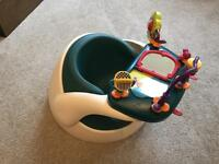 Mamas and papas teal snub seat and toy