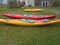 Kayak, used Dagger Stratos 14.5S for sale saffron/red