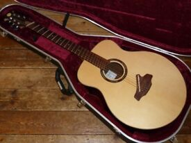 Alan Miller fan fret acoustic 2014 Cocobolo back and sides with LR Baggs pickup system
