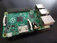Raspberry Pi B+ with case, wifi dongle and 32GB SD card