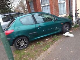 Puegeot 206 1.4L 3 Door Green 92k Miles Fully Working - or for spares £200