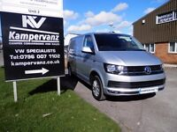 SILVER VW T6 HIGHLINE TRANSPORTER CAMPERVAN WITH TAIL-GATE. AWAITING CONVERSION
