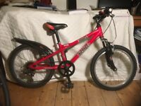 Dawes 'Redtail' child's bicycle, nice condition, 5 gears, V brakes