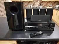 Onkyo TX-SR507 5.1 AV amplifier speaker/subwoofer setup