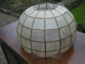 Vintage Capiz shell pendant lampshade