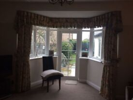 Sanderson fabric, hand-made curtains - ideal for lounge or dining room