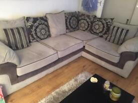 Grey corner couch and chair