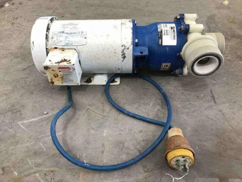Sethco 344-A33E 3/2HP PP Magnetic Drive Chemical Pump 3490/2890RPM 3PH TEFC